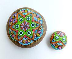 Owl Mandala & Owl Set/ Unique Hand Painted by ISassiDellAdriatico