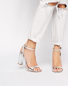 Discover a collection of Wedding Shoes with ASOS. Shop a range of bridal shoes, wedges and platforms available from ASOS. Asos Maternity, Gold Block Heel Sandals, Shoes Heels, Pumps, Heeled Sandals, Dress Shoes, Metallic Sandals, Silver Sandals, Kinds Of Shoes