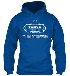 Tanya Name Tshirt Royal Sweatshirt Front