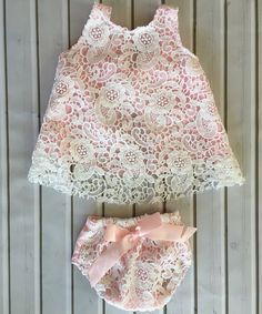 Chicaboo White   Pink Lace Eyelet Tunic   Bloomers - Infant b97493d72