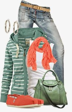 casual outfit. I like the color combo and the Toms are awesome.