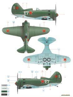I-16 Type 24 VVS 1942 Camouflage Color Profile