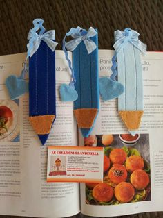 the creations of antonella: HOW Souvenirs FOR BIRTH ORIGINAL BOOKMARKS A PENCIL SHAPED FELT ..