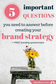 Everything you fight for, everything you do for your business, needs to be under the same cohesive brand strategy. Take your branding to a new level and use this free branding questionaire to boost your business! Brand Management, Creative Thinking, Create Yourself, Branding Design, Web Design, Messages, This Or That Questions, Business, Studio