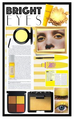 """""""shining bright"""" by kartika-ega ❤ liked on Polyvore featuring beauty, Christian Lacroix, Post-It, Maybelline, Mullein & Sparrow, Decléor, MAC Cosmetics, NARS Cosmetics, brighteyes and eyesmakeup"""