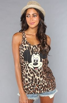 The Mickey Face Leopard Top in Leopard by Joyrich | Karmaloop.com - Global Concrete Culture - StyleSays