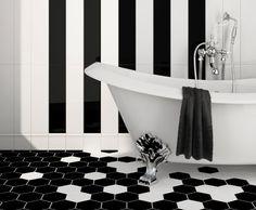Beautiful graphic black & white.   Julian Tile/ Extro series