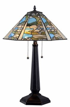 """Ocean Wash 24"""" H Table Lamp with Cone Shade"""