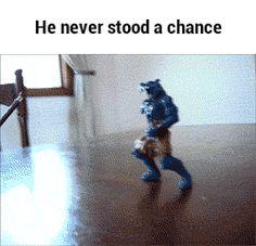 He never stood a chance GIF