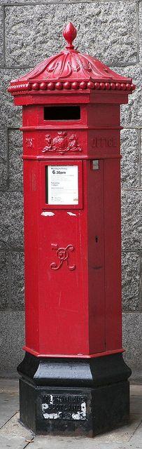 Pillar Box at Tower Bridge, London