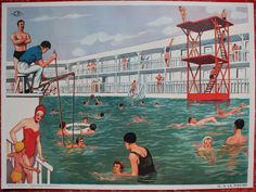 Vintage French school poster Double sided 1950's A par lojaVintage, €72,65