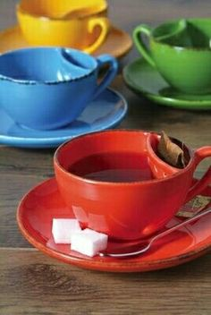 Tea cup with a tea bag pocket!