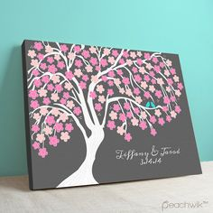 Guest+Book+Canvas++Wedding+Tree++Cherrywik+Multi+door+peachwik,+$80.00