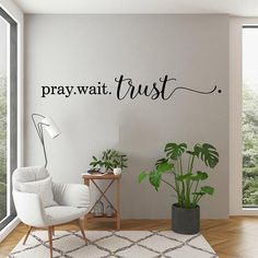Word Wall Decor, Quotes For Wall Decor, Prayer Room, Prayer Closet, Room Wall Painting, Christian Wall Decor, Vinyl Decor, Vinyl Wall Stickers, Wall Decal