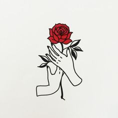 Image result for hand holding rose tattoo
