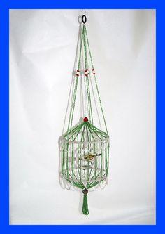 Vogelkäfig aus Glasperlen, Gablonz um 1920   (# 4390)