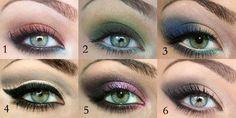 six shadows for hazel-green eyes