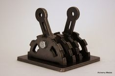 Industrial Double Light Switch Cover. Steampunk, Modern, Rustic, Functional, Metal Wall Art w/Center Cutouts.