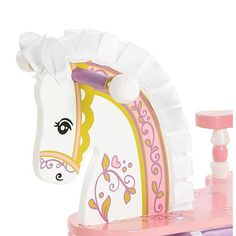 Always A Princess Rocking Horse and Designer Girls Nurseries with Posh Style 1-866-Poshtot in Themes For Girls : Princess at PoshTots