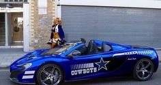 Here we have few of the great looking Dallas Cowboy cars. Which one would you choose? Is that a McLaren?) Well, you need to like both exotic car and Dallas Cowboys Football, Dallas Cowboys Pictures, Cowboys 4, Football Team, Pittsburgh Steelers, Cowboy Images, How Bout Them Cowboys, Champions, Up Girl