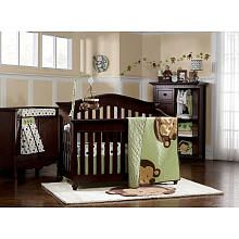 Kids Line Pop Monkey 7-Piece Crib Bedding Set