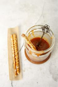 everything is poetry: sesame sticks and caramel sauce