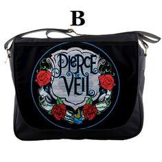 Messenger Bag Black Veil Bride Fashion Pierce The by BagsOverYou, $28.00