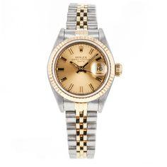 Rolex DateJust 69173 2-Tone 18k Gold & Stainless Steel Wrist Watches For Women #Rolex #LuxurySportStyles