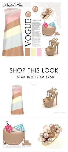"""""""Pastel Hues"""" by pixidreams ❤ liked on Polyvore featuring Valentino, Kate Spade, Mimí and Bloomingdale's"""