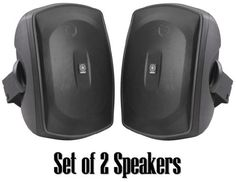Yamaha All Weather Outdoor / Indoor Wall Mountable Natural Sound 130 watt 2 way Acoustic Suspension Speakers - Set of 2 - Black - Compatible with All Audio / Video Home Theater Sound Systems, Components, CD Players, or Receivers by Yamaha. $99.99. Outdoor Speaker System Features High Power Handling and Durable All-Weather DesignRecommended for Indoor / Outdoor Front / Surround SpeakersNew Natural Sound All-Weather Speaker System2-way acoustic suspension130 Watts M...