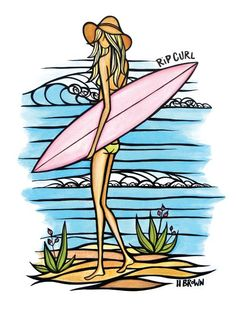 Heather Brown for Rip Curl collection. Head to shop.ripcurl.com to see all of the styles with this unique art!