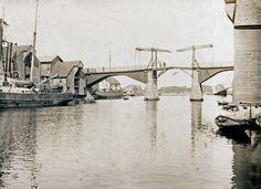 Havnebilde - Gamle Hasseløy bro @ DigitaltMuseum.no