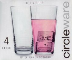 Circleware CIRQUE Four Piece 16oz. Cooler Glass Set by Circleware. $19.99