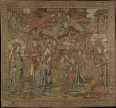 In the finest pre-renaissance tapestry of the Museum of Applied Arts the depicted scenes are enclosed by a border of flowers and fruits. Google Art Project, Costume Collection, Art Google, Lana, Nativity, Medieval, Art Projects, Vintage World Maps, Literature