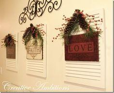 pinterest home decor   DIY Home Decorating / shutters