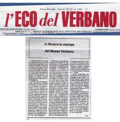 1986 Giornale L'Eco del Verbano, Arona