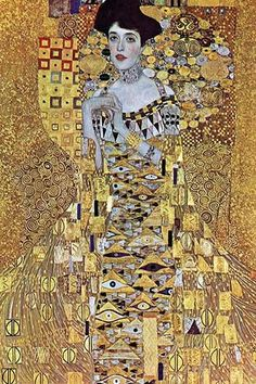 "The ""Portrait of Adele Bloch-Bauer"" is a 1907 painting by Gustav Klimt. The first of two portraits Klimt painted of Bloch-Bauer, it has been referred to as the final and most fully representative work"
