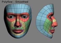 3D Human Face Wireframe - Typologie 2