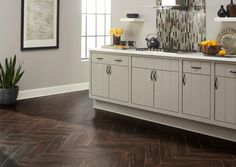 Stockbridge Espresso Wood Plank Porcelain Tile - 6 x 24 - 100105972 Stone Countertops, Kitchen Tiles, Kitchen Flooring, Design Kitchen, Kitchen Decor, Espresso, Quartz Slab, Wood Look Tile, Cooking