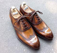 Caulaincourt shoes - Chomel - tabac