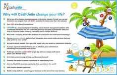https://www.cashunite.com/ArnelMacariola CashUnite has powerful tool to make your sharing go VIRAL and make BIG money just by using it. Program review: http://projectwealthonline.blogspot.com/2013/07/cashunite-review-social-networks-for.html