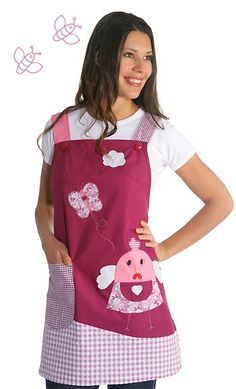 uniformes modernos para maestras de preescolar - Buscar con Google Sewing Kids Clothes, Sewing For Kids, Sewing Crafts, Sewing Projects, Pinafore Apron, Knitting Socks, Lace Bra, How To Make, How To Wear