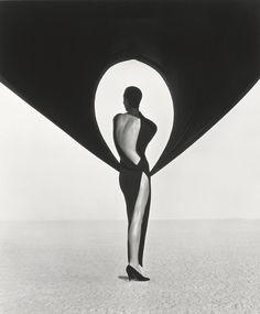 Versace Dress, Back View, El Mirage, 1990. © Herb Ritts