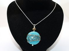 Items similar to Necklace: Turquoise Pendant - Lampwork Jewelry - Glass Bead Jewelry - Decorated Jewelry - Modern Jewelry - Beadwork Jewelry- gift on Etsy Beaded Jewelry, Beaded Necklace, Pendant Necklace, Turquoise Pendant, Blue Beads, Minimalist Jewelry, Lampwork Beads, Modern Jewelry, Necklace Lengths