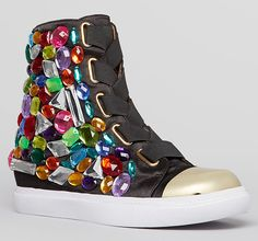 Jeffrey Campbell Lace Up High Top Sneakers