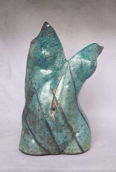 Raku torso by Susan Fox