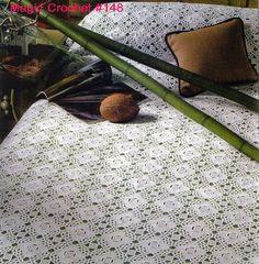 Melissa Melina Crochet: Couvre lit 1 au crochet patron gratuit