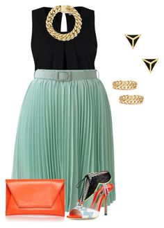 """""""plus size sexy mixup"""" by kristie-payne ❤ liked on Polyvore featuring Vero Moda, Chicwish, Sophia Webster and Ariella Collection"""