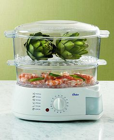 I've had this steamer for 3years and cant say enough about it! Fish, shrimp, rice, any vegtable..Best kitchen gadget.. Dawn