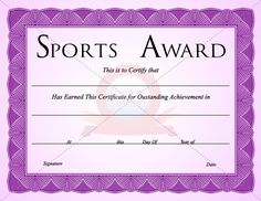 Sports certificate template sports certificate templates sports certificate template yelopaper Choice Image